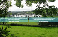 Front screenshot of Llandysul website