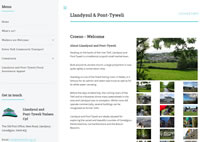 Screenshot of Llandysul website